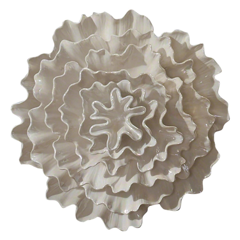Carnation Wall Flower - Pearl White - Grats Decor Interior Design & Build Inc.