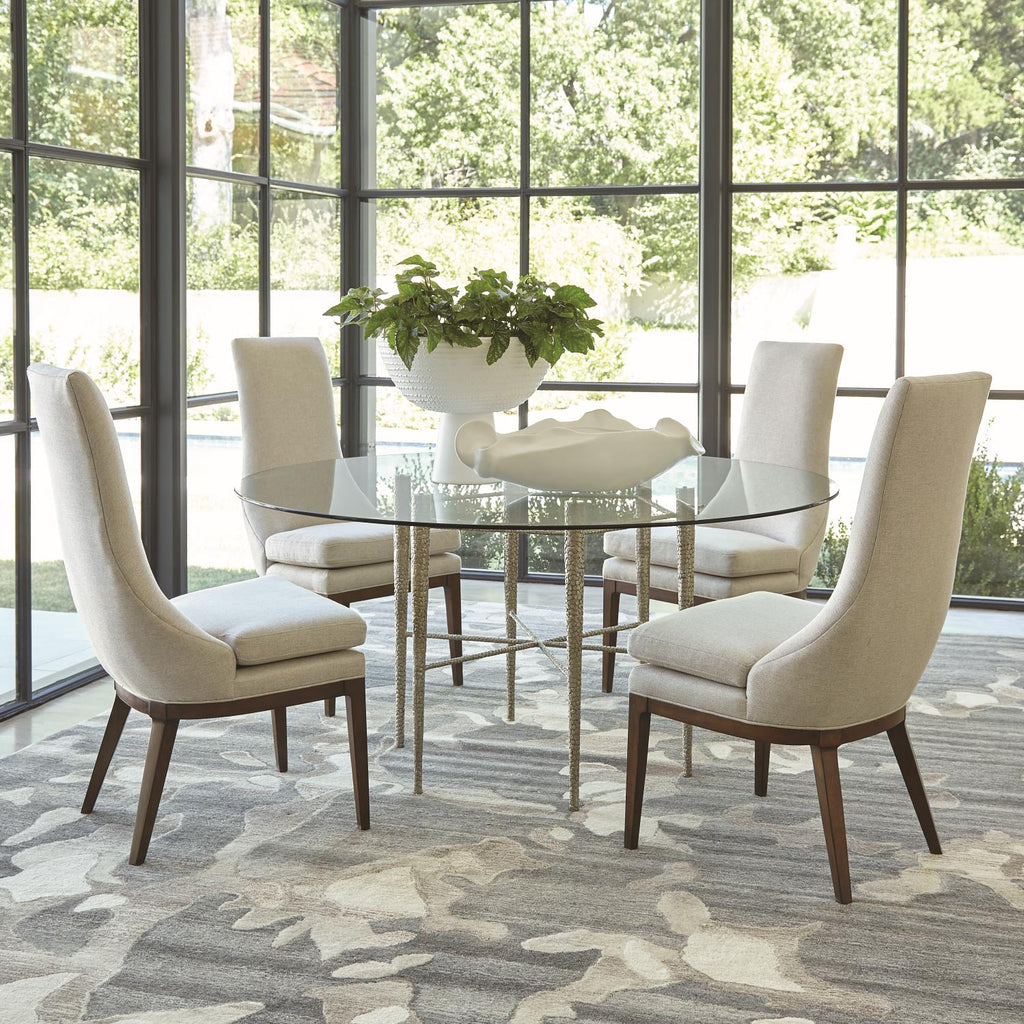 Hammered Dining Table - Nickel Plated