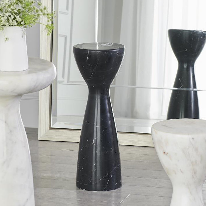 Marble Tower Table - Black - Grats Decor Interior Design & Build Inc.