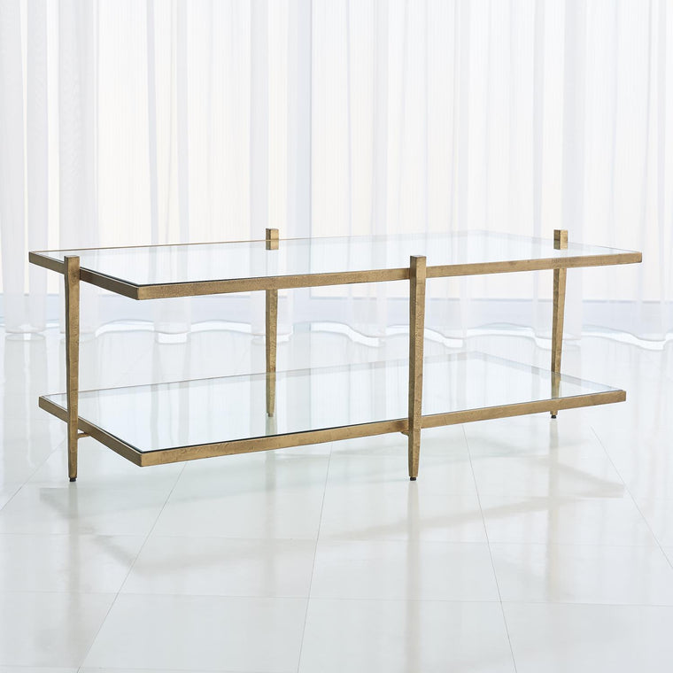 Laforge Cocktail Table - Antique Gold - Grats Decor Interior Design & Build Inc.