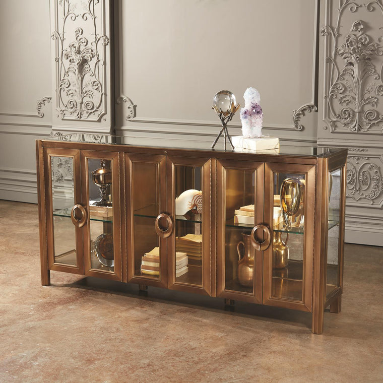 Apothecary Console Cabinet - Grats Decor Interior Design & Build Inc.