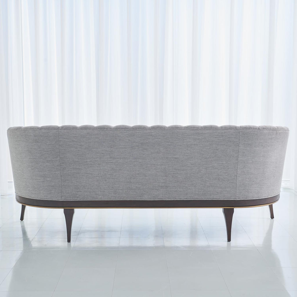 Channel Back Sofa - Silversmith Fabric - Grats Decor Interior Design & Build Inc.