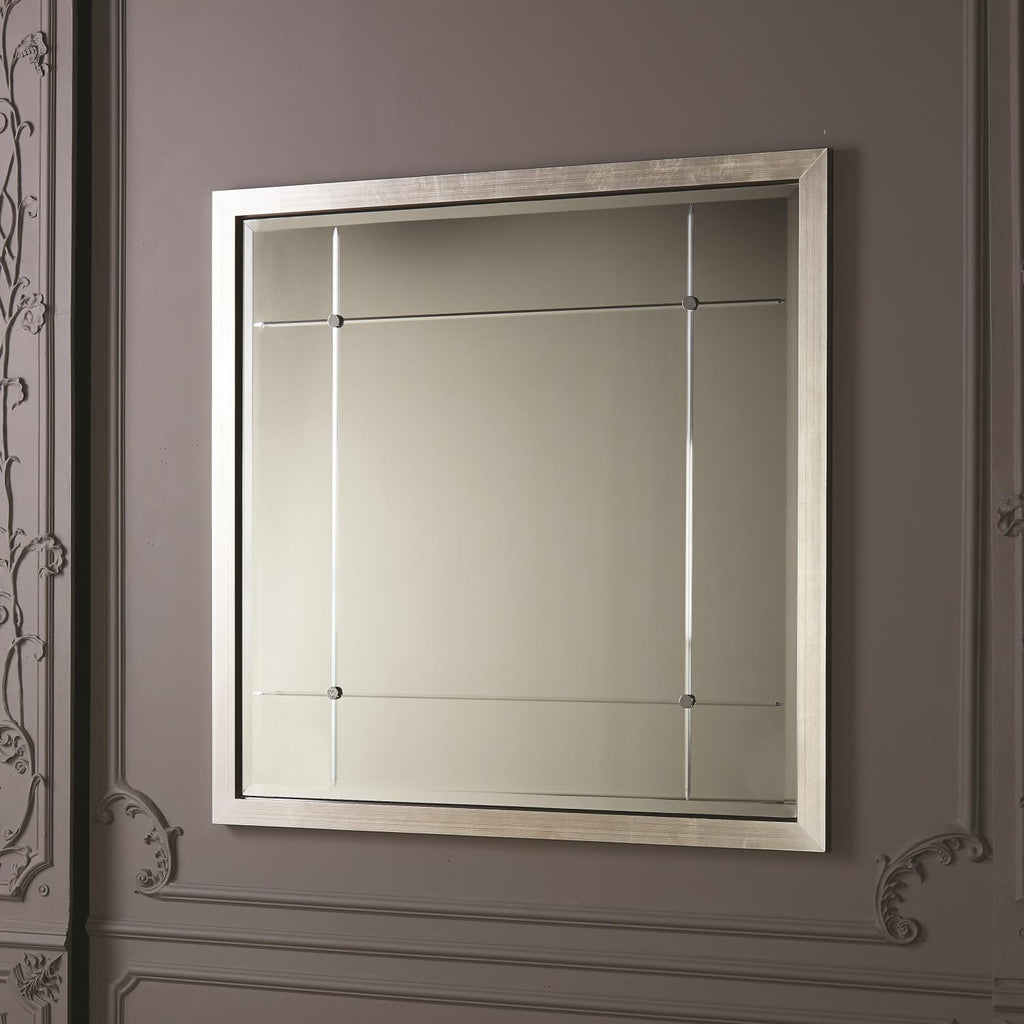 Beaumont Mirror - Silver Leaf - Grats Decor Interior Design & Build Inc.