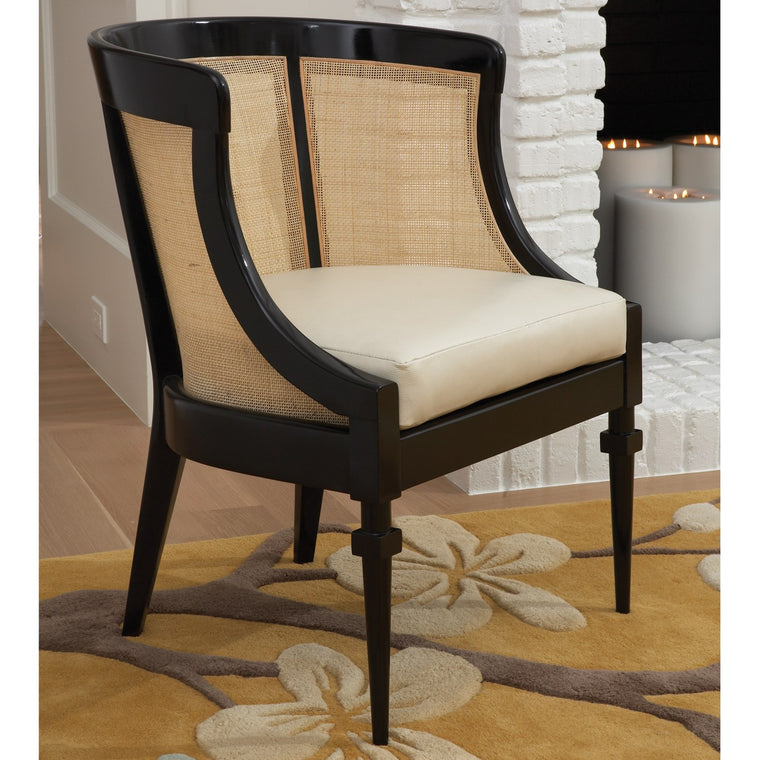 Cane Chair - Black - Grats Decor Interior Design & Build Inc.