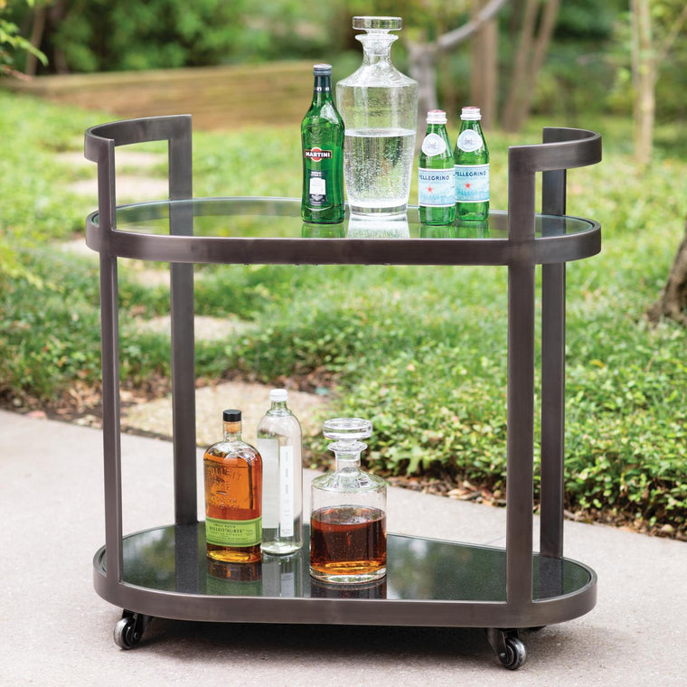 Regan Bar Cart - Antique Gunmetal