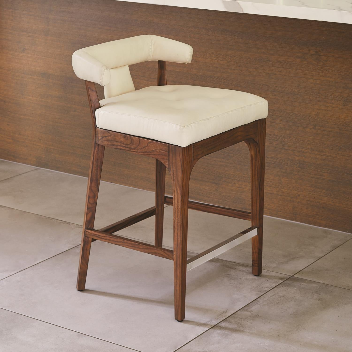 Excellent Moderno Counter Stool Ivory Marble Leather Creativecarmelina Interior Chair Design Creativecarmelinacom