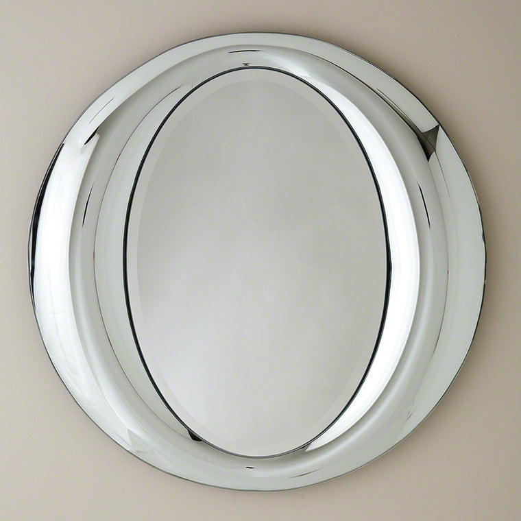 "Illuminati 35""Dia Mirror - Grats Decor Interior Design & Build Inc."
