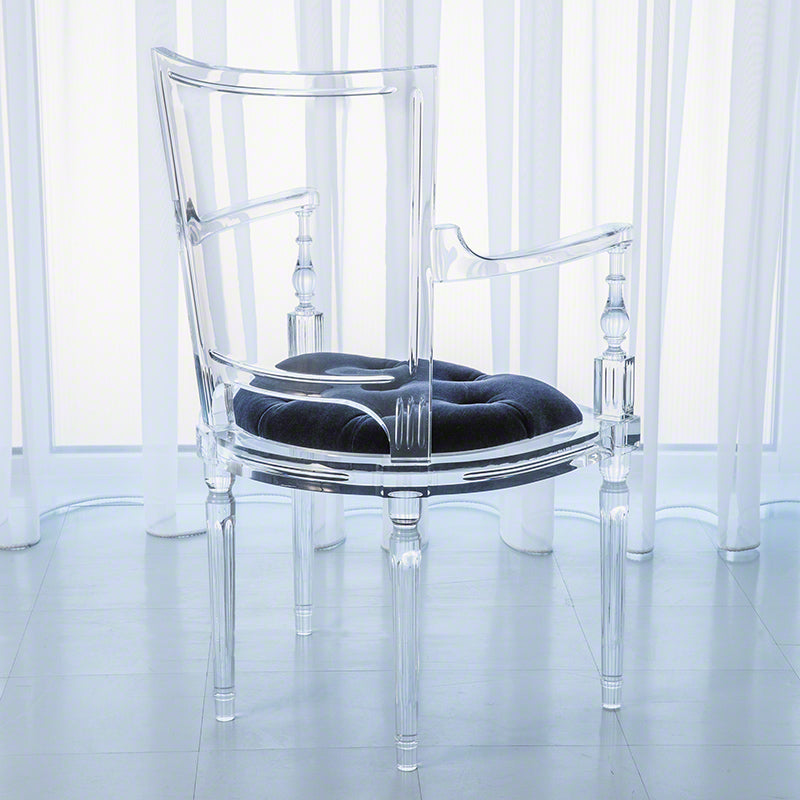 Marilyn Acrylic Arm Chair - Admiral Blue
