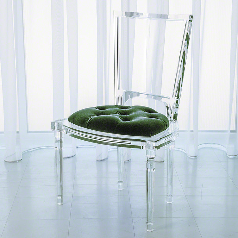 Marilyn Acrylic Side Chair - Emerald Green - Grats Decor Interior Design & Build Inc.