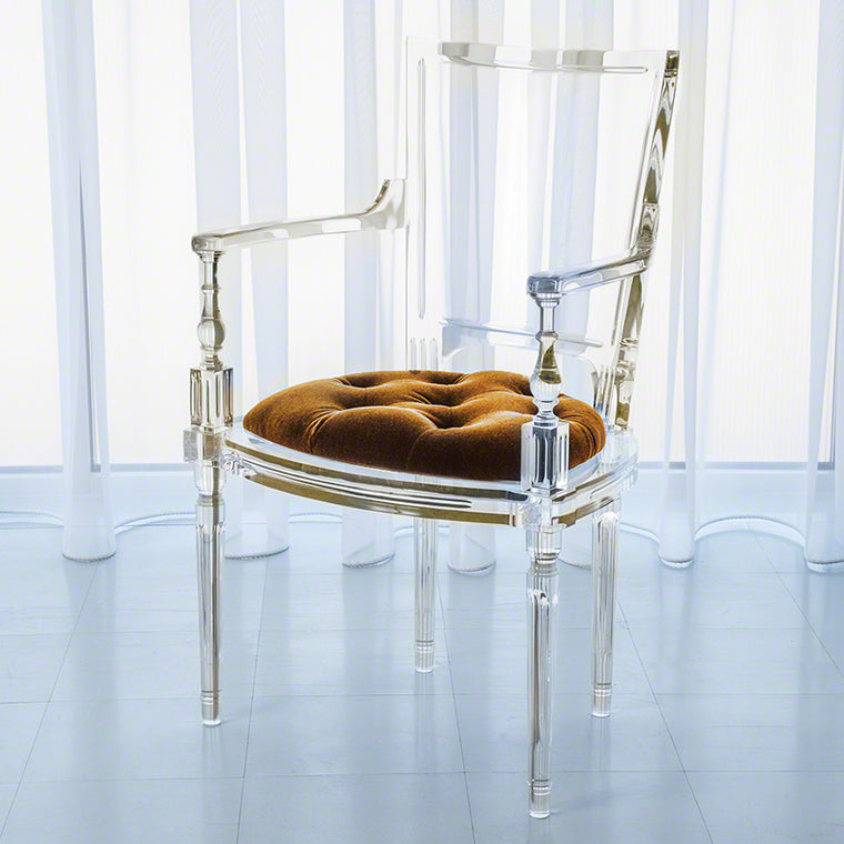 Marilyn Acrylic Arm Chair - Brown Sugar - Grats Decor Interior Design & Build Inc.