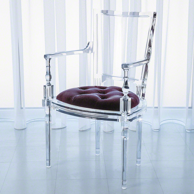 Marilyn Acrylic Arm Chair - Sultana Lavender