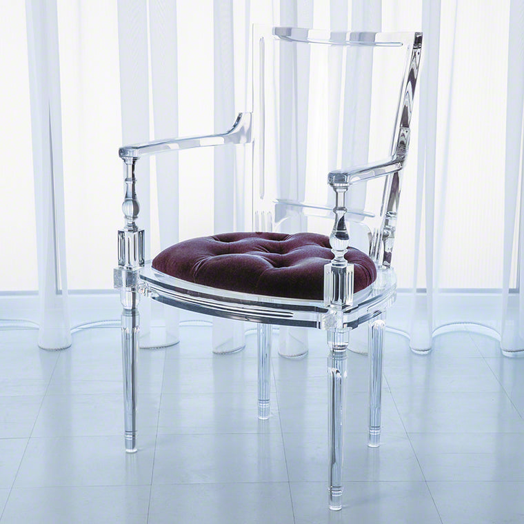 Marilyn Acrylic Arm Chair - Sultana Lavender - Grats Decor Interior Design & Build Inc.