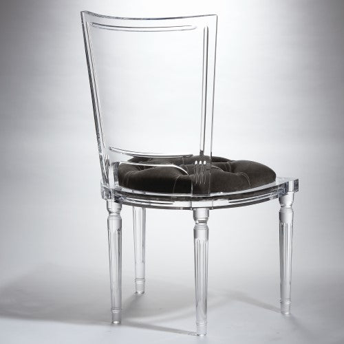 Marilyn Acrylic Side Chair - Pewter Grey - Grats Decor Interior Design & Build Inc.