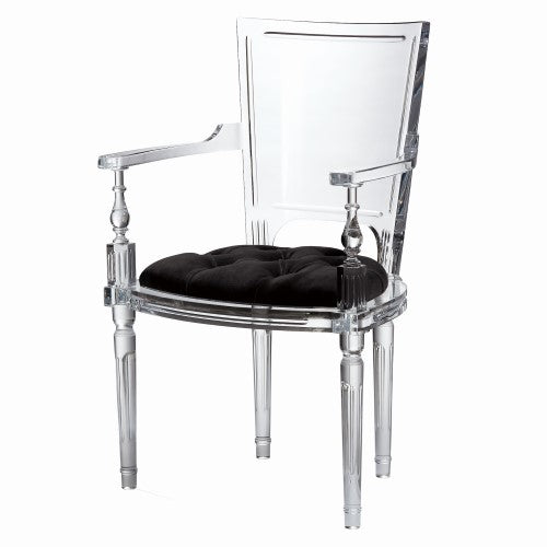 Marilyn Acrylic Arm Chair - Black