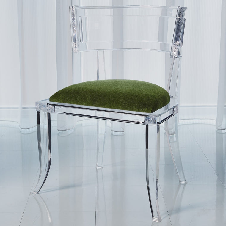 Klismos Acrylic Chair - Emerald Green - Grats Decor Interior Design & Build Inc.