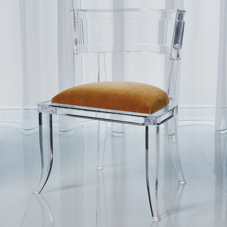 Klismos Acrylic Chair - Brown Sugar - Grats Decor Interior Design & Build Inc.