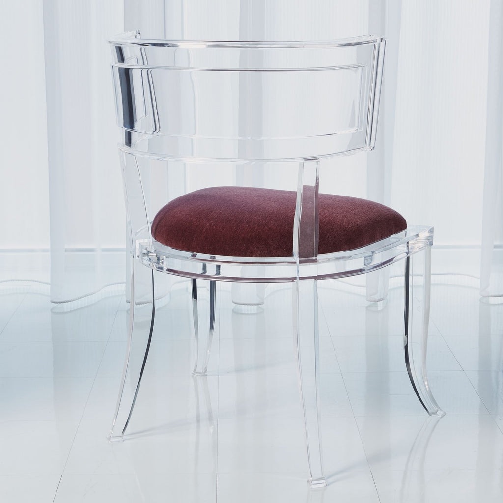 Klismos Acrylic Chair - Sultana - Grats Decor Interior Design & Build Inc.