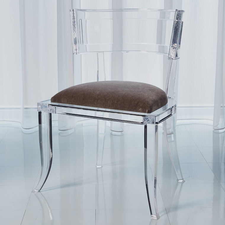 Klismos Acrylic Chair - Pewter - Grats Decor Interior Design & Build Inc.