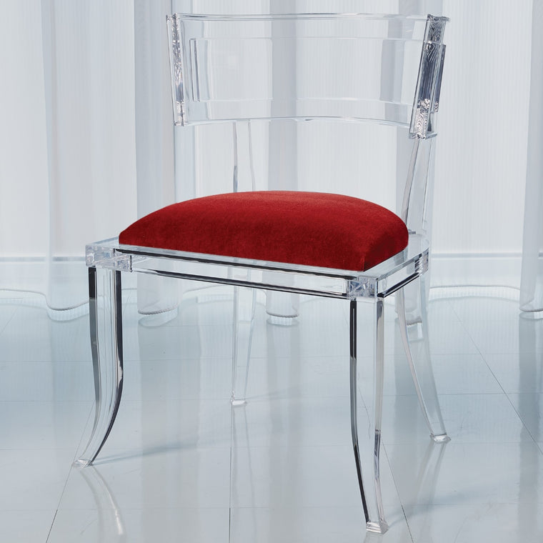 Klismos Acrylic Chair - Red Pepper - Grats Decor Interior Design & Build Inc.