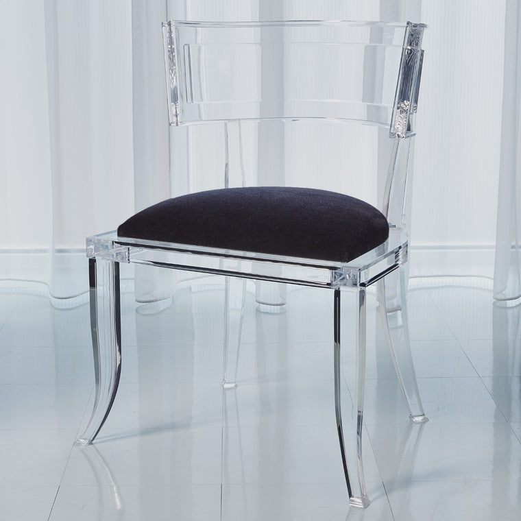 Klismos Acrylic Chair - Black