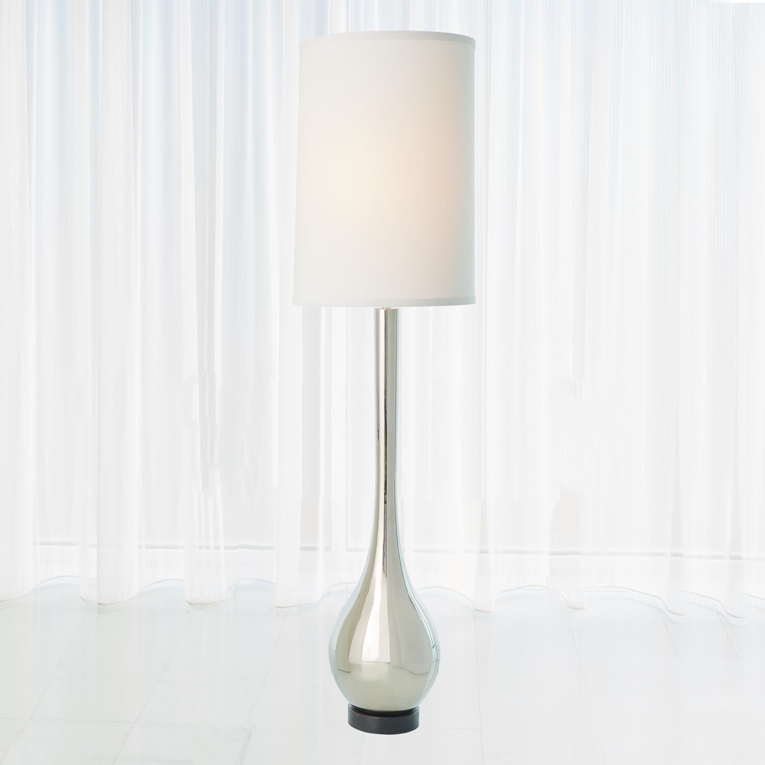 Bulb 81 H Floor Lamp Nickel Grats Decor Interior Design