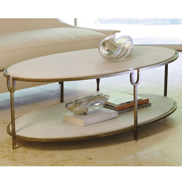 "Rivers 52"" Coffee Table - Oval - Grats Decor Interior Design & Build Inc."