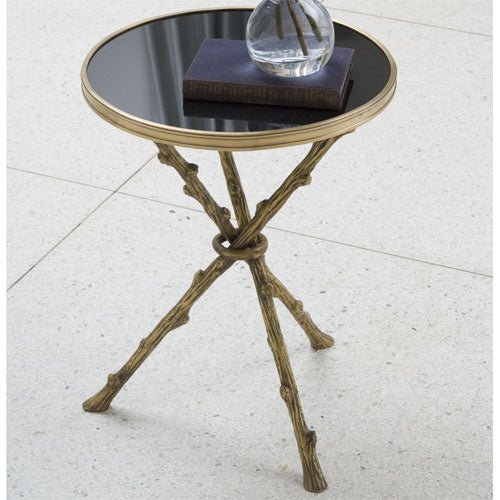 "Lola 17""Dia Table - Brass & Black Granite - Grats Decor Interior Design & Build, Inc.  - 2"