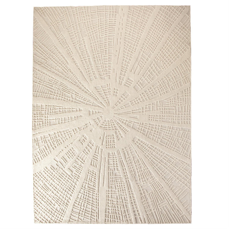 Vortex Rug - Ivory/Ivory - 4 Sizes
