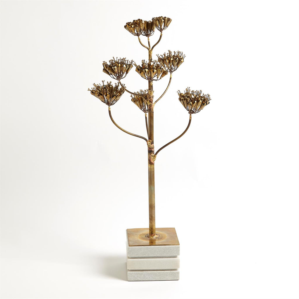 Blooming Century Plant Sculpture - Brass - Grats Decor Interior Design & Build Inc.