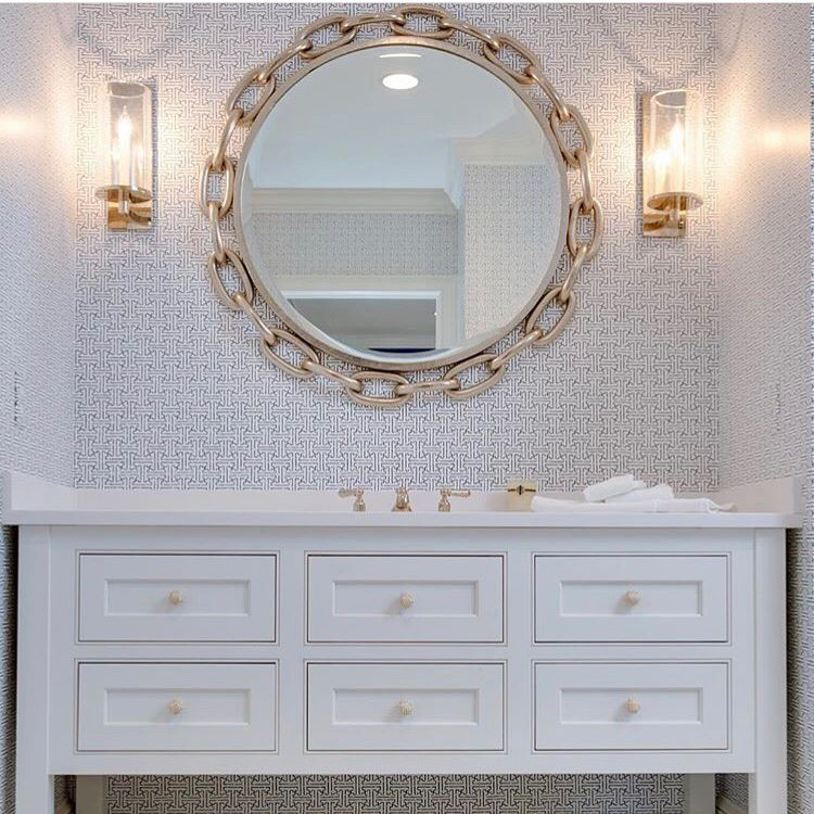 "Linked 40""Dia Mirror-Nickel"