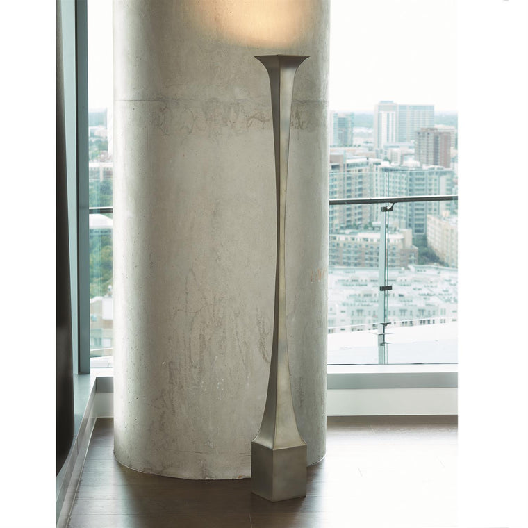 Giac Torchiere Floor Lamp - White Bronze - Grats Decor Interior Design & Build Inc.