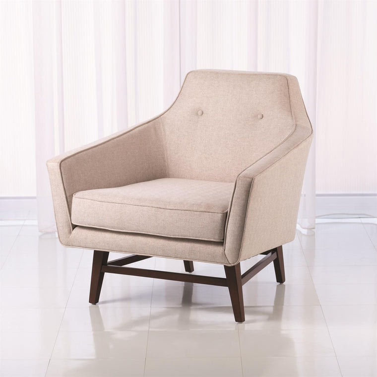 Edward Lounge Chair - Muslin - Grats Decor Interior Design & Build Inc.