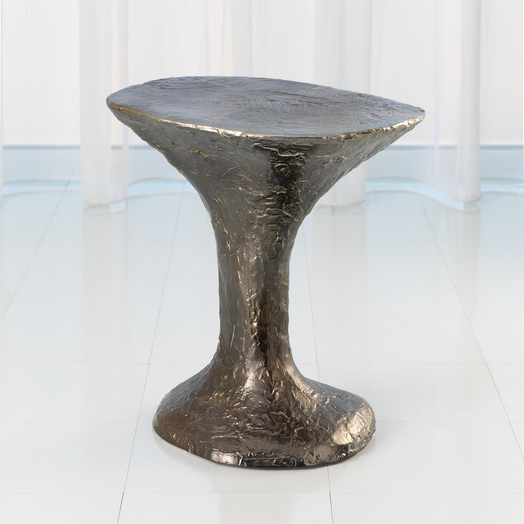 Primitive Accent Table - Reactive Bronze - Grats Decor Interior Design & Build Inc.