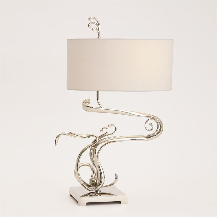 Fete Table Lamp - Nickel - Grats Decor Interior Design & Build Inc.