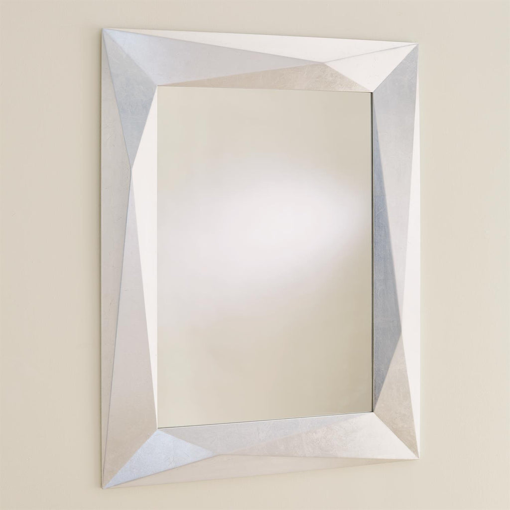 Angular Mirror - Silver Leaf - Grats Decor Interior Design & Build Inc.