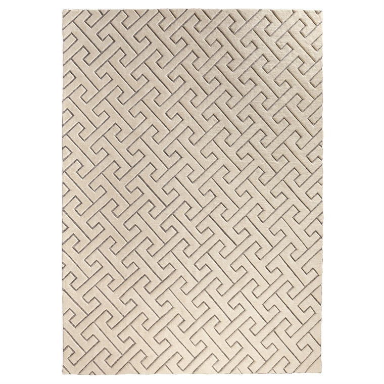 Tessellating Rug - Ivory/Grey - 4 Sizes