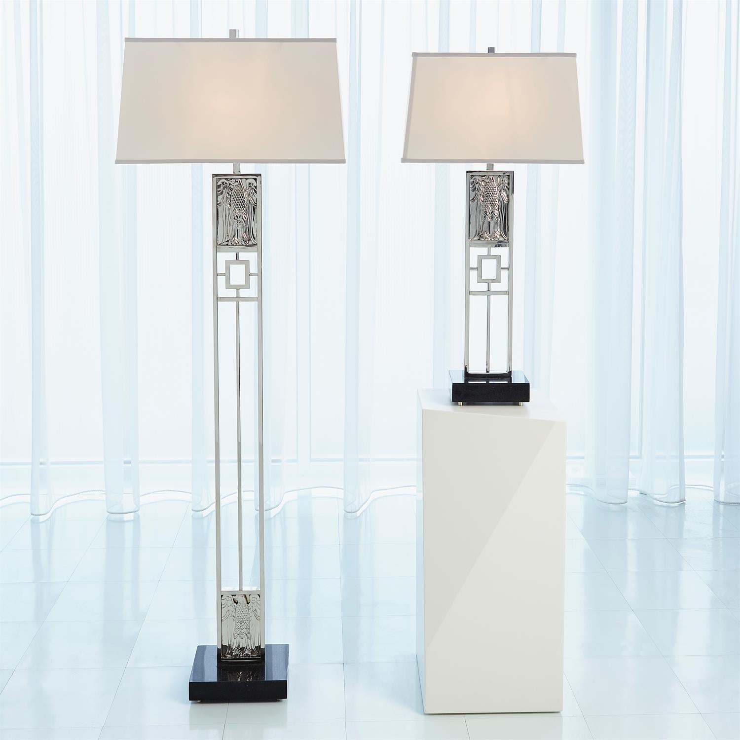 Republic Floor Lamp Nickel Grats Decor Interior Design Build