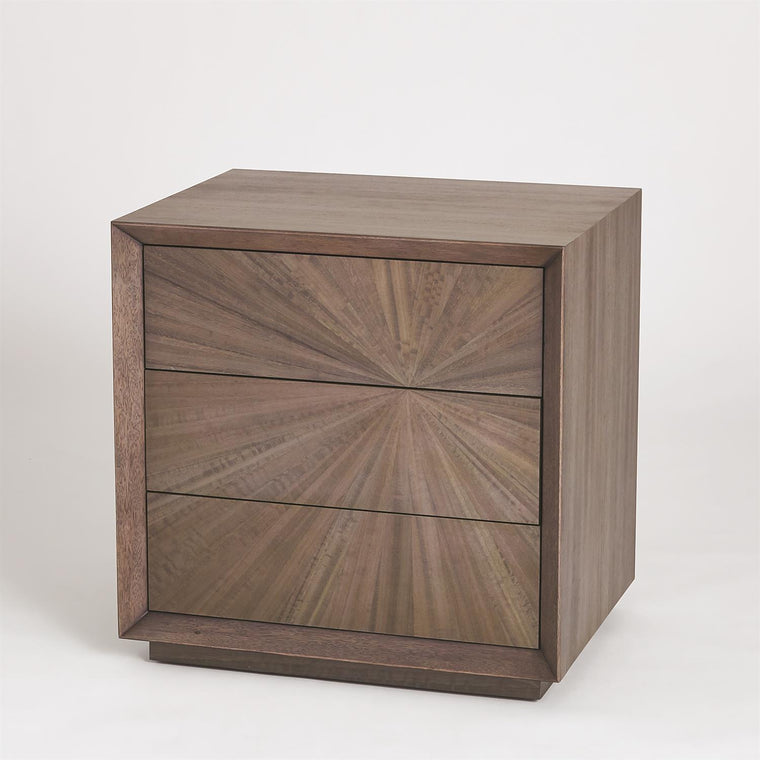 Eucalyptus Burst Bedside Chest - Right - Grats Decor Interior Design & Build Inc.