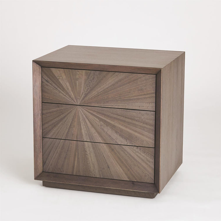 Eucalyptus Burst Bedside Chest - Left - Grats Decor Interior Design & Build Inc.