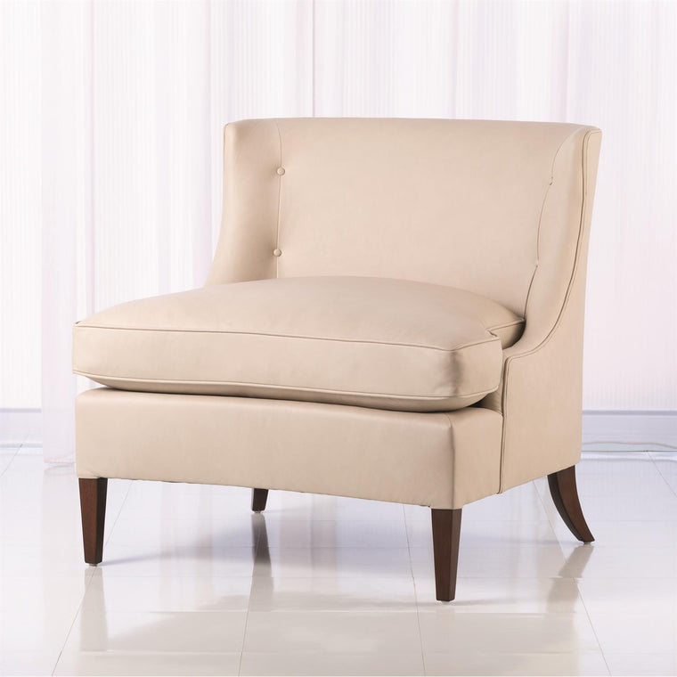 Severn Lounge Chair - Beige Leather - Grats Decor Interior Design & Build Inc.