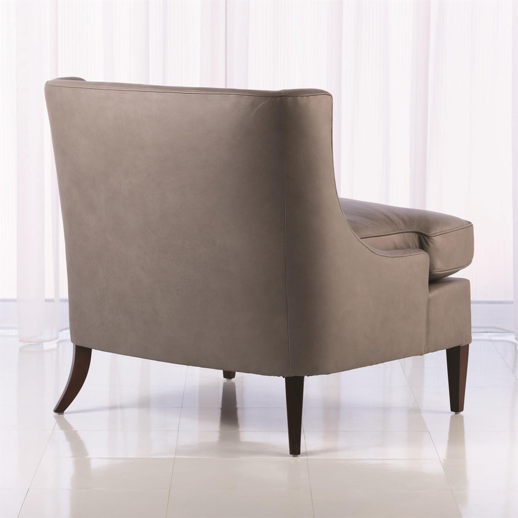 Severn Lounge Chair - Grey Leather - Grats Decor Interior Design & Build Inc.