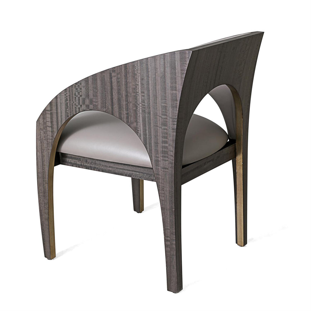 Arches Occasional Chair - Grey Leather - Grats Decor Interior Design & Build Inc.