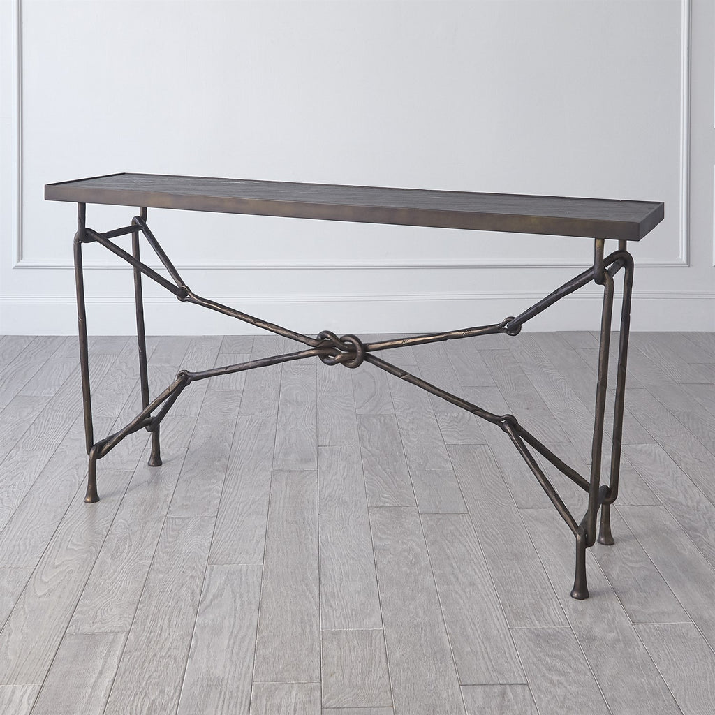 Love Knot Console - Bronze/ Black - Grats Decor Interior Design & Build Inc.