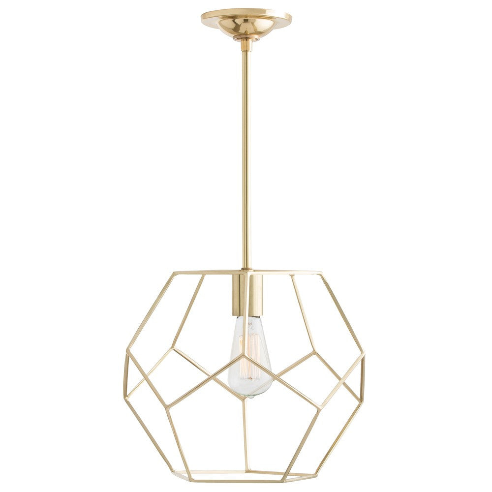 "Mara Small 13""Dia Pendant - Brass - Grats Decor Interior Design & Build Inc."