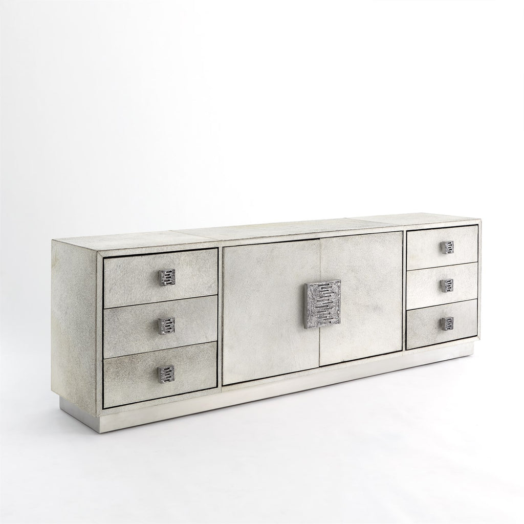 Metro Long Cabinet - Hair on Hide - Grey