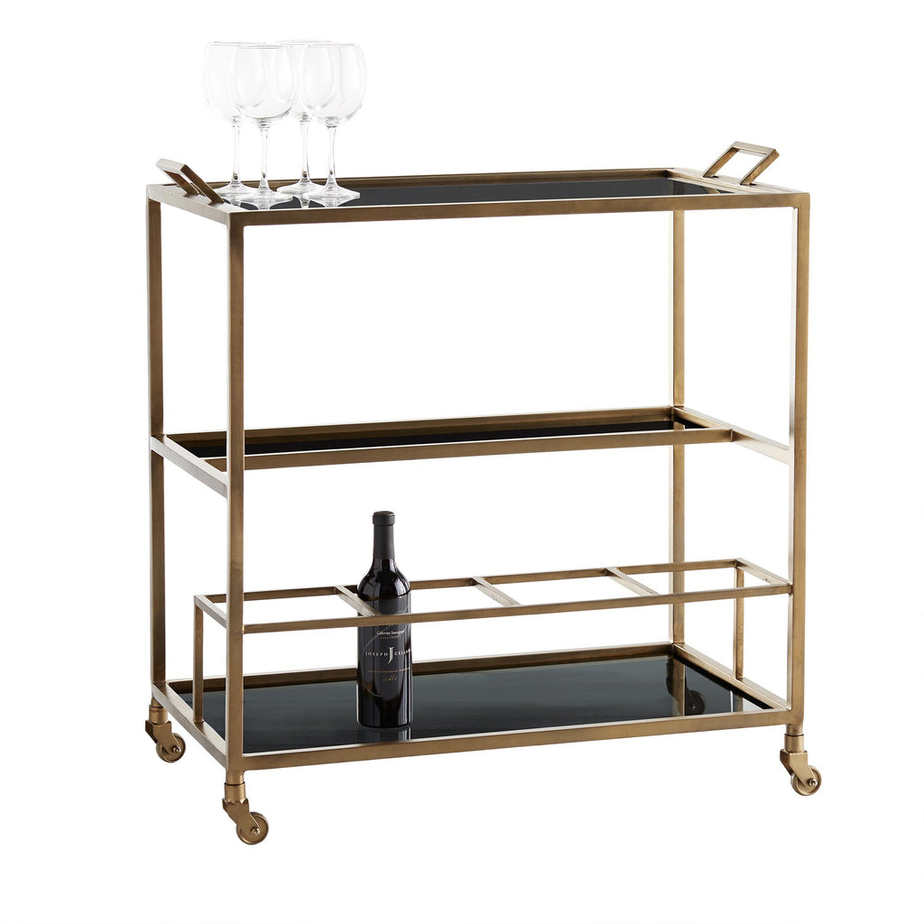 Jak Bar Cart - Antique Brass - Grats Decor Interior Design & Build Inc.