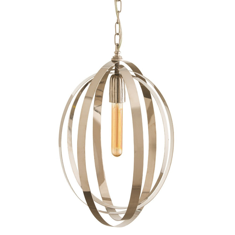 Polished Nickel Pendant - Grats Decor Interior Design & Build Inc.