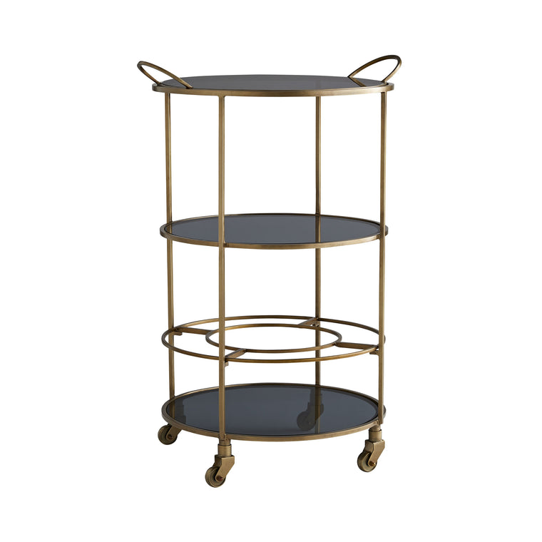 Crestwood Bar Cart - Antique Brass - Grats Decor Interior Design & Build Inc.