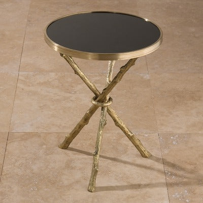 "Lola 17""Dia Table - Brass & Black Granite - Grats Decor Interior Design & Build, Inc.  - 3"