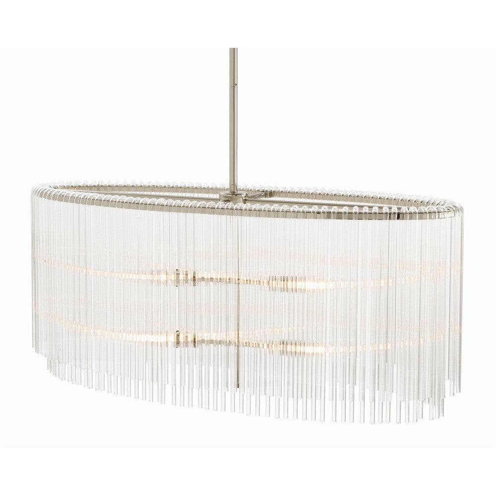"Royalton Oval 34""W Pendant Chandelier - Grats Decor Interior Design & Build Inc."